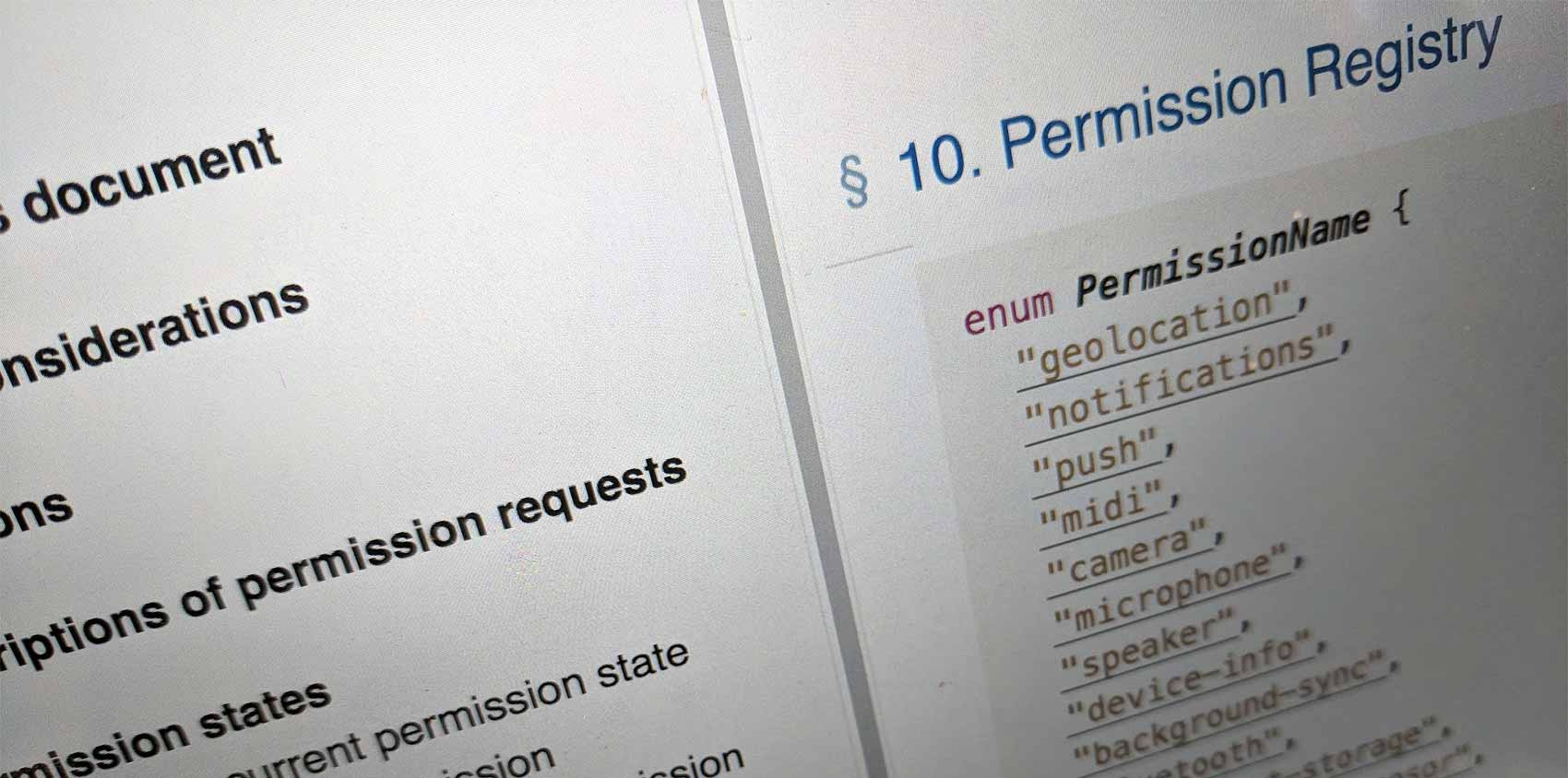 Thinking about permissions on the web | Sally Lait